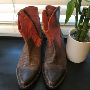 Orange & Brown cowgirl boots